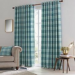 Helena Springfield - Light Blue Polyester 'Harriet' Woven Lined Curtain