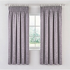 Sanderson - Light purple cotton and polyester Sanderson Options 'Ida Blossom' lined curtains