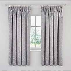 Sanderson - Grey cotton and polyester Sanderson Options 'Ida Blossom' lined curtains
