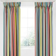 Bedeck 1951 - Multicoloured cotton sateen 200 thread count 'Ila' lined curtains