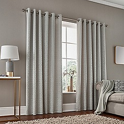 Bedeck 1951 - Natural polyester and cotton 'Kanza' lined curtains
