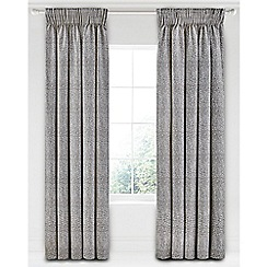 Bedeck 1951 - Grey cotton sateen 'Koba' lined curtains