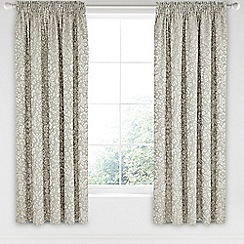 Helena Springfield - Natural viscose and polyester 'Lily' lined curtains