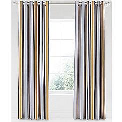 Scion - Multicoloured cotton panama 'Lintu' lined curtains