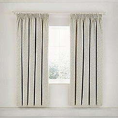 Helena Springfield - Natural Cotton And Polyester 'Laurel' Lined Curtains