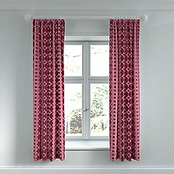 Helena Springfield - Rose polyester and viscose 'Lula' lined curtains