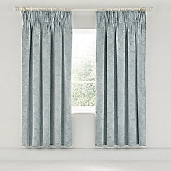 Sanderson - Light blue cotton and polyester Sanderson Options 'Lyon' lined curtains