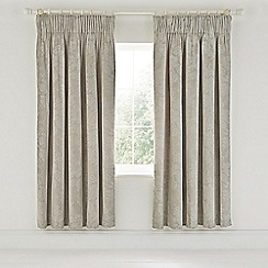Sanderson - Natural cotton and polyester Sanderson Options 'Lyon' lined curtains