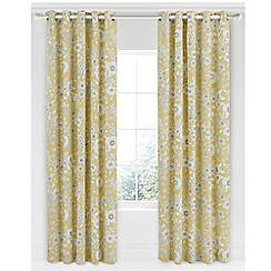 Sanderson - Light yellow cotton panama Sanderson Home 'Maelee' lined curtains