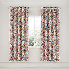 Helena Springfield - Light Blue Cotton Half Panama 'Mary Jane' Lined Curtains