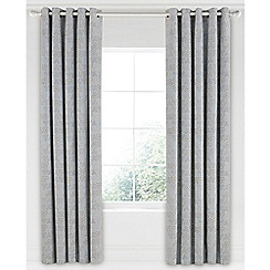 Bedeck 1951 - Light grey cotton sateen 'Mika' lined curtains