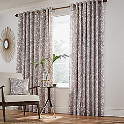 Helena Springfield - Natural cotton half panama 'Oasis Linen' lined curtains