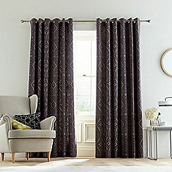Bedeck 1951 - Dark purple cotton slub 'Omari' lined curtains