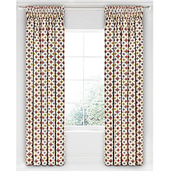 Bedeck 1951 - Multicoloured cotton sateen 'Otto' lined curtains