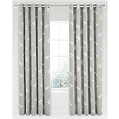 Sanderson - Light grey cotton panama Sanderson Home 'Paper Doves' lined curtains