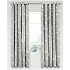 Sanderson - Light grey cotton panama Sanderson Home 'Paper Doves' lined curtains