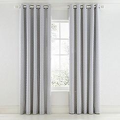 Scion - Light grey cotton panama 'Pajaro' lined curtains