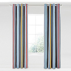 Scion - Multicoloured cotton panama 'Pepino' lined curtains