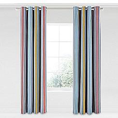 Scion - Multicoloured cotton panama 'Pepino' lined curtains