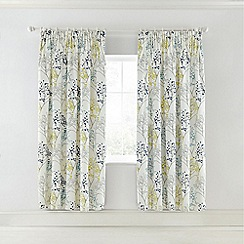 Sanderson - Light blue cotton sateen Sanderson Home 'Pippin' lined curtains