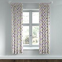 Helena Springfield - Purple polycotton 'Polly' linen curtains