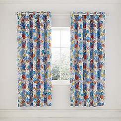 Helena Springfield - Blue Cotton Half Panama 'Patsy' Lined Curtains