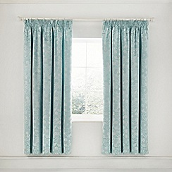 Helena Springfield - Light Blue Polyester And Viscose 'Petal' Lined Curtains
