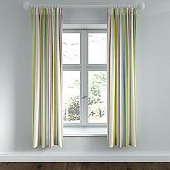Helena Springfield - Light green polycotton 'Roxy' lined curtains
