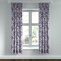 Helena Springfield - Purple polycotton 'Sally' lined curtains