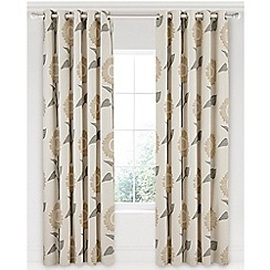 Sanderson - Natural cotton panama Sanderson Home 'Sundial' lined curtains