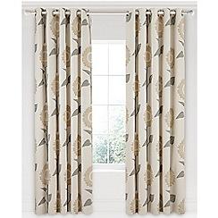Sanderson - Natural cotton panama Sanderson Home 'Sundial' lined curtains