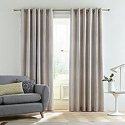Bedeck of Belfast - Light grey cotton slub 'Suri' lined curtains
