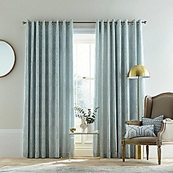 Bedeck 1951 - Light blue cotton jacquard 'Tabir' lined curtains