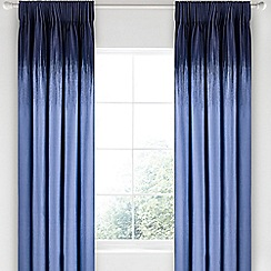 Bedeck 1951 - Dark blue cotton sateen 'Taj' lined curtains