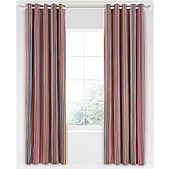 Bedeck 1951 - Dark red cotton sateen 'Tamar' lined curtains