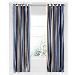 Bedeck 1951 - Dark blue cotton sateen 'Tamar' lined curtains