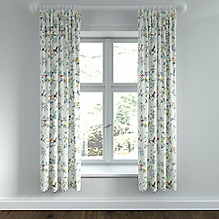 Helena Springfield - Light blue polycotton 'Tilly' lined curtains