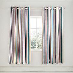 Helena Springfield - Light Blue Cotton Half Panama 'Trixie' Lined Curtains