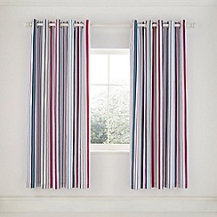 Helena Springfield - Cerise Cotton Half Panama 'Trixie' Lined Curtains