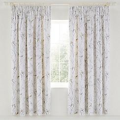 Sanderson - Light grey cotton sateen Sanderson Options 'Tuileries' lined curtains