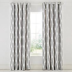 Scion - Grey Cotton Panama 'Usuko' Lined Curtains