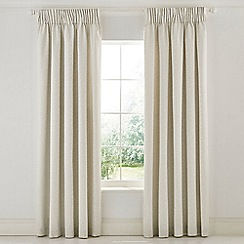 Morris & Co - Grey Cotton Panama 'Wandle' Lined Curtains