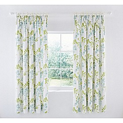 Sanderson - Light blue cotton sateen Sanderson Home 'Wisteria Blossom' lined curtains