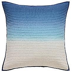 Designers Guild - Blue cotton 'Saraille' quilted sham