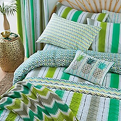 Helena Springfield - Bright green polycotton 'Amalfi Tropical' bedding set