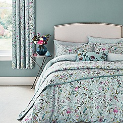 V & A - Aqua cotton 'Botanica' bedding set