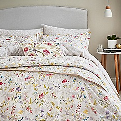 V & A - Multicoloured cotton 'Botanica' bedding set