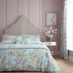 V & A - Aqua cotton 'Chinese Bluebird' bedding set