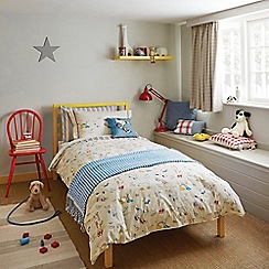 Little Sanderson - Kids' cream 'Dogs In Clogs' duvet cover and pillow case set