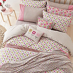 Helena Springfield - Pink polyester and cotton 'Dot' bedding set